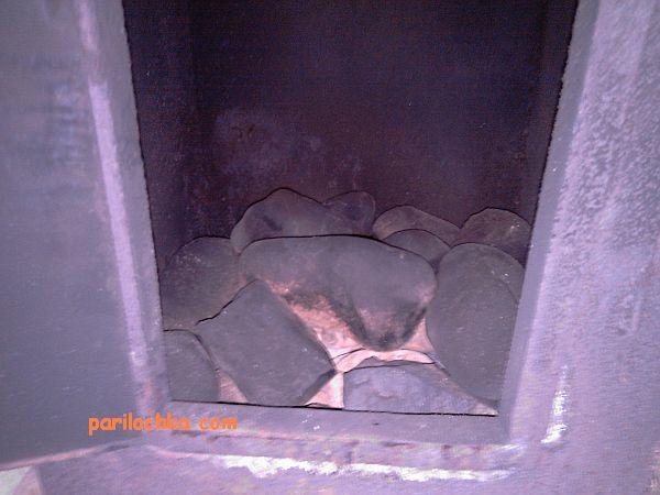 Печь для бани с задним дымоходом