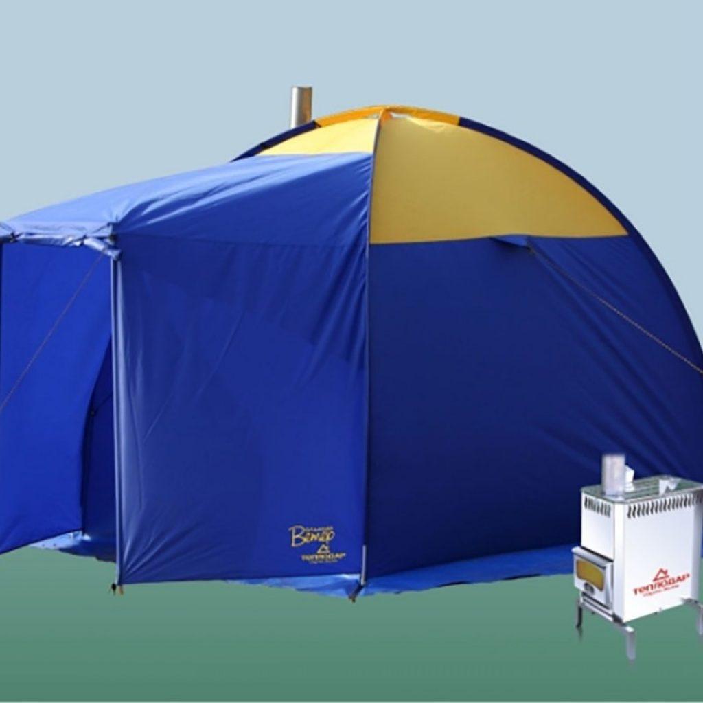 Мобильные бани палатки с печкой