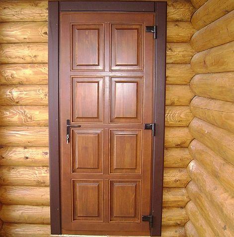 Банные двери из вагонки