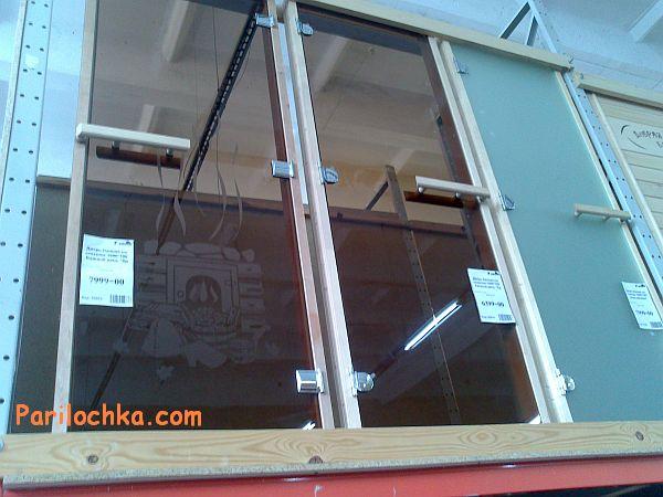 фото стеклянных дверей для сауны