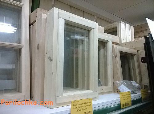 Деревянные окна банные в продаже