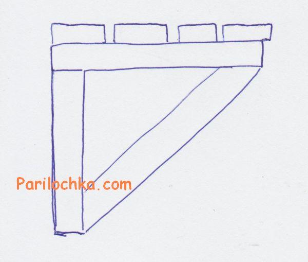 схема лавки для бани