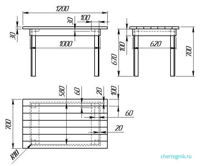 Чертежи мебели из дерева для бани