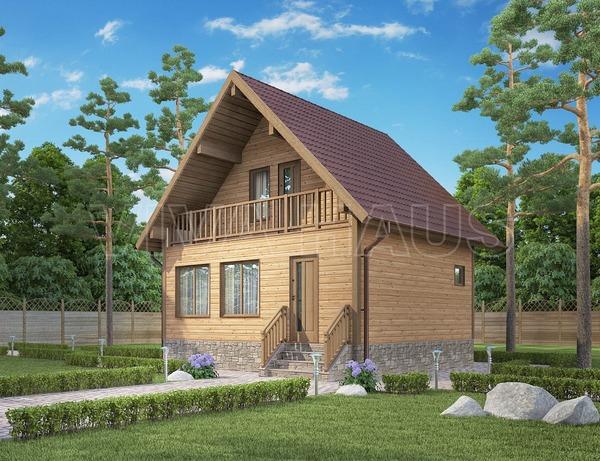Садовый домик с баней под одной крышей