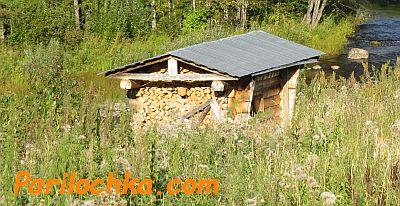 Баня с односкатной крышей своими руками фото