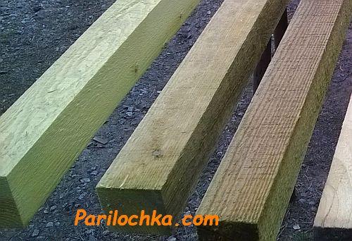 древесина обработанная антисептиком