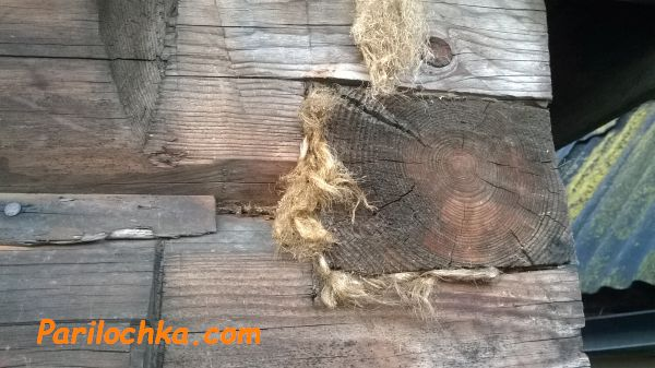 сруб с конопаткой
