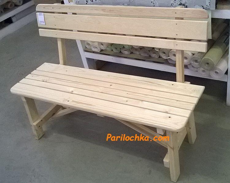 скамейка для бани из сосны