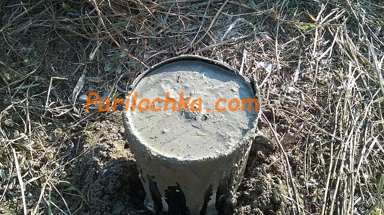 buronabivnoi stolbik fundamenta iz ruberoida