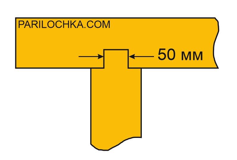 схема врезки перегородки в стену
