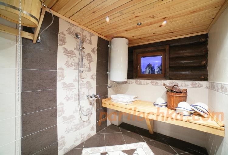 моечное отделение , душевая в бане